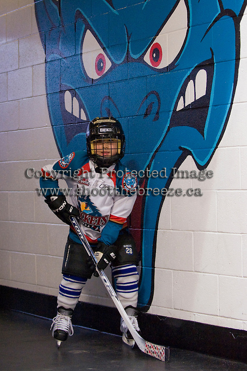 KELOWNA, CANADA, OCTOBER 22: The Pepsi Save-On Foods player of the game poses for a photo before the Victoria Royals visited the Kelowna Rockets on October 22, 2011 at Prospera Place in Kelowna, British Columbia, Canada (Photo by Marissa Baecker/shootthebreeze.ca) *** Local Caption ***