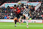 Joshua King (17) of AFC Bournemouth clashes with Craig Dawson (25) of West Bromwich Albion during the Premier League match between Bournemouth and West Bromwich Albion at the Vitality Stadium, Bournemouth, England on 17 March 2018. Picture by Graham Hunt.