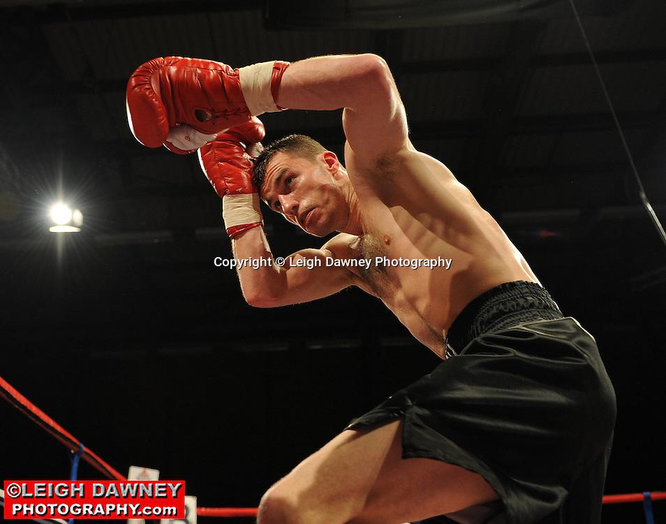 Martin Welsh (black shorts) defeats Willliam Warburton at Gorsebrook Leisure Centre Dagenham on 14th May 2010. Frank Maloney Promotions. Photo credit: © Leigh Dawney