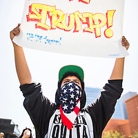 Anti Trump Immigration Rally 2016