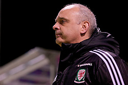 BALA, WALES - Tuesday, February 21, 2017: Wales U18 Academy manager Mark Pike before an Under-18 International Friendly match between Wales and Republic of Ireland at Maes Tegid. (Pic by Paul Greenwood/Propaganda)