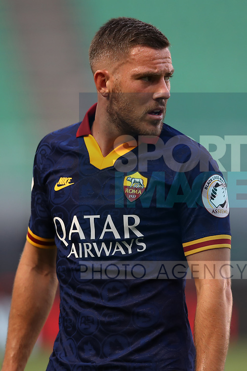 AS Roma's French midfielder Jordan Veretout during the Serie A match at Giuseppe Meazza, Milan. Picture date: 28th June 2020. Picture credit should read: Jonathan Moscrop/Sportimage