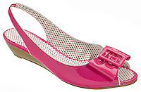 michael antonio hot pink vinyl sandal with bow