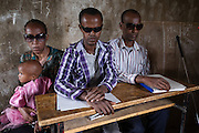 Guhala, Ethiopia - 16.05.16  - Teachers for the blind, who are also members of a local disability advocacy group, MECHACHAL, sit in a classroom at Guhala Primary School in East Belessa, Ethiopia on May 16, 2016. The school and advocacy group do not receive CBM support at this time. Photo by Daniel Hayduk