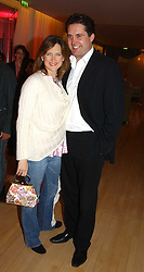 News presenter KATIE DERHAM and  at the annual Laurent Perrier Pink Party held at The Sanderson Hotel, Berners Street, London on 27th April 2005.<br /><br />NON EXCLUSIVE - WORLD RIGHTS