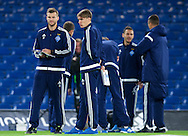 Andriy Yarmolenko of Dynamo Kyiv (left) and Serhiy Sydorchuk before the UEFA Champions League match at Stamford Bridge, London<br /> Picture by Alan Stanford/Focus Images Ltd +44 7915 056117<br /> 04/11/2015