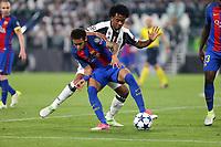 11.04.2017 - Torino  -  Quarti di finale  Champions League , Nella foto:  Neymar  in lotta con Cuadrado