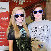 "Photos of the ConnecTeen - Calgary Hitmen ""Face In The Crowd"" contest at the Calgary Saddledome hockey arena."