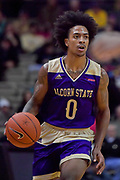 Alcorn State Braves guard Troymain Crosby (0) controls the ball against the Vanderbilt Commodores during the second half of a NCAA college basketball game in Nashville, Tenn., Friday, Nov 16, 2018. Vanderbilt won 79-54. (Jim Brown/Image of Sport)