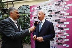 MAURO FABRIS INTERVISTATO DA MARCO FANTASIA<br /> CONFERENZA LEGA VOLLEY FEMMINILE SQUADRE ITALIANE PROTAGONISTE IN EUROPA<br /> FOTO FILIPPO RUBIN / LVF
