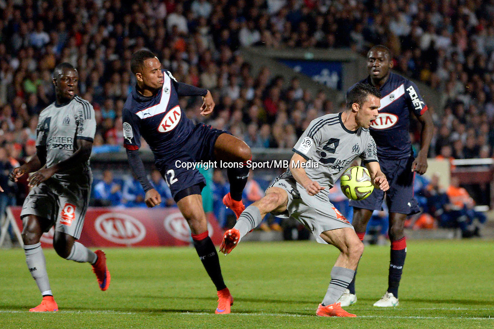 Isaac KIESE THELIN / Jeremy MOREL - 12.04.2015 - Bordeaux / Marseille - 32eme journee de Ligue 1 <br />Photo : Caroline Blumberg / Icon Sport