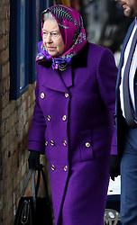 Britain's Queen Elizabeth II arrives at King's Lynn Railway station as she arrives in Norfolk for her Christmas break on the Sandringham Estate in Norfolk.