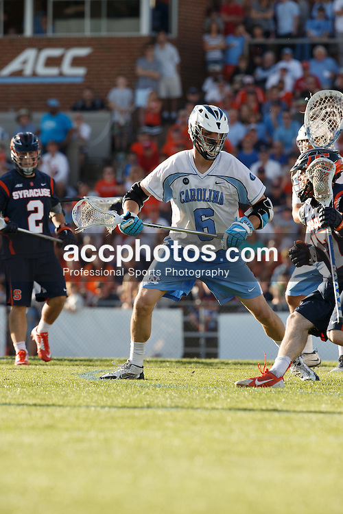 CHAPEL HILL, NC - APRIL 11: Jake Matthai #6 of the North Carolina Tar Heels plays against the Syracuse Orange on April 11, 2015 at Fetzer Field in Chapel Hill, North Carolina. North Carolina won 17-15. (Photo by Peyton Williams/US Lacrosse/Getty Images) *** Local Caption *** Jake Matthai