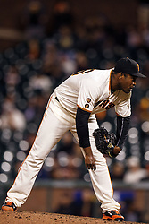 SAN FRANCISCO, CA - APRIL 18: Santiago Casilla #46 of the San Francisco Giants stands on the pitchers mound against the Arizona Diamondbacks during the ninth inning at AT&T Park on April 18, 2016 in San Francisco, California. The Arizona Diamondbacks defeated the San Francisco Giants 9-7 in 11 innings.  (Photo by Jason O. Watson/Getty Images) *** Local Caption *** Santiago Casilla