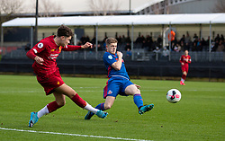 LIVERPOOL, ENGLAND - Monday, February 24, 2020: Liverpool's Neco Williams crosses the ball during the Premier League Cup Group F match between Liverpool FC Under-23's and AFC Sunderland Under-23's at the Liverpool Academy. (Pic by David Rawcliffe/Propaganda)