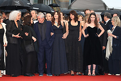 """Tess Lauvergne, Marianne Denicourt, Monica Bellucci, Claude Lelouch, Anouk Aimee, a guest, Souad Amidou and Antoine Sire attend the screening of """"Les Plus Belles Annees D'Une Vie"""" during the 72nd annual Cannes Film Festival on May 18, 2019 in Cannes, France. Photo by Shootpix/ABACAPRESS.COM"""