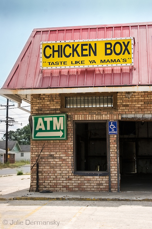 Chicken Box restaurant in the lower 9th Ward of New Orleans destroyed by Hurricane Katirna