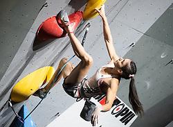 08.09.2018, Kletterzentrum, Innsbruck, AUT, IFSC, Kletter WM Innsbruck 2018, Halbfinale, Damen, Vorstieg, im Bild Mia Krampl (SLO) // Mia Krampl of Slovenia during Semi-Finals of Women Lead for the IFSC Climbing World Championships 2018 at the Kletterzentrum in Innsbruck, Austria on 2018/09/08. EXPA Pictures © 2018, PhotoCredit: EXPA/ Johann Groder