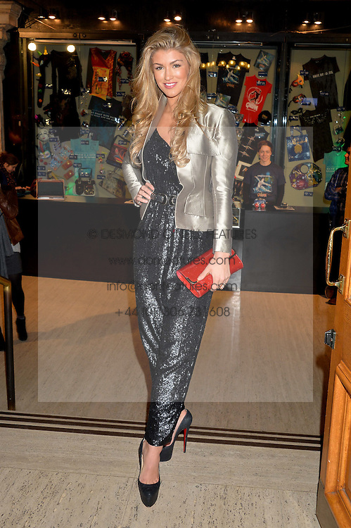 AMY WILLERTON at the opening night of Cirque du Soleil's award-winning production of Quidam at the Royal Albert Hall, London on 7th January 2014.