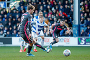 Leeds United forward Patrick Bamford (9) misses a penalty kick during the EFL Sky Bet Championship match between Queens Park Rangers and Leeds United at the Kiyan Prince Foundation Stadium, London, England on 18 January 2020.