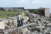 03/01/2014.   Wall collapsed in An Spideal  Galway  destroyed by the storms . Photo:Andrew Downes.