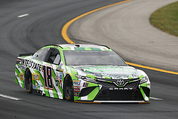 July 14, 2017 - Loudon, NH, United States of America - July 14, 2017 - Loudon, NH, USA: Kyle Busch (18) hangs out in the garage during practice for the Overton's 301 at New Hampshire Motor Speedway in Loudon, NH. (Credit Image: © Justin R. Noe Asp Inc/ASP via ZUMA Wire)