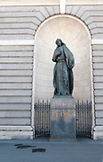 Statue of St Peter (Petrus) at the Almudena Cathedral (Santa María la Real de La Almudena) is a Catholic cathedral in Madrid, Spain. It is the seat of the Roman Catholic Archdiocese of Madrid. The cathedral was consecrated by Pope John Paul II in 1993.