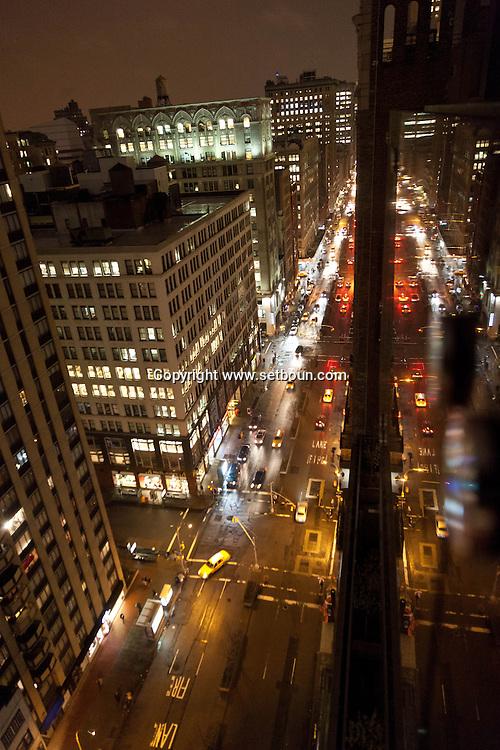 New york, midtown,  park avenue at night