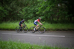 Trixi Worrack (GER) of CANYON//SRAM Racing and Christine Majerus (LUX) of Boels-Dolmans Cycling Team try to bridge the gap during Stage 2 of the OVO Energy Women's Tour - a 144.5 road race, starting and finishing in Stoke-on-Trent on June 8, 2017, in Staffordshire, United Kingdom. (Photo by Balint Hamvas/Velofocus.com)