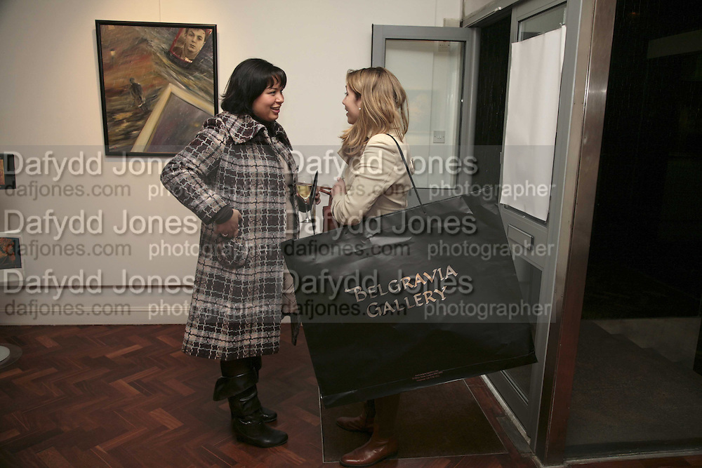 Emilie Ortolan and Cailin Hughes, The Real Dream, private view for an exhibition of work by Michael Rogatchi. Cork St. London.  5 December 2006. ONE TIME USE ONLY - DO NOT ARCHIVE  © Copyright Photograph by Dafydd Jones 248 CLAPHAM PARK RD. LONDON SW90PZ.  Tel 020 7733 0108 www.dafjones.com