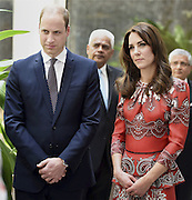 April 10, 2016 - Mumbai, INDIA - <br /> <br /> The Duke and Duchess of Cambridge, Prince William, and his wife, the former Kate Middleton stand after laying a wreath on the martyrs memorial at the Taj Mahal Palace Hotel in Mumbai, India, Sunday, April 10, 2016. The royal couple began their weeklong visit to India and Bhutan, by laying a wreath at a memorial Sunday at Mumbai iconic Taj Mahal Palace hotel, where 31 victims of the 2008 Mumbai terrorist attacks were killed. <br /> ©Exclusivepix Media