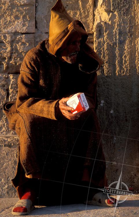 Cigarette seller, Essaouira.  You can purchase a single cigarette.
