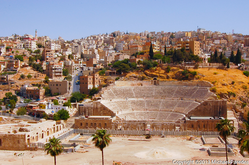 An 1800-year-old, 6000 seat Roman arena in downtown Amman, Jordan
