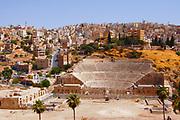 An 1800-year-old, 6000 seat Roman arena in downtown Amman, Jordan
