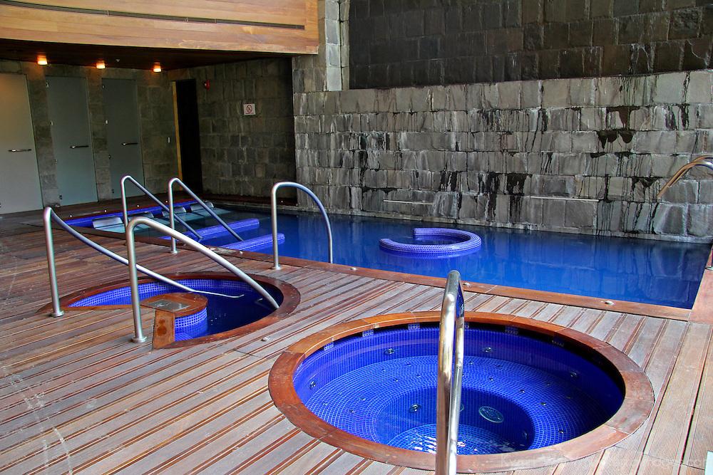 South America, Peru, Urubamba. Spa at Tambo del Inka Resort & Spa in the Sacred Valley.