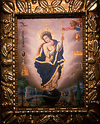 ECUADOR, QUITO SCHOOL OF PAINTING 18thc, 'Virgen Imaculada' by Manuel de Samaniego, collection of Banco Central de Ecuador