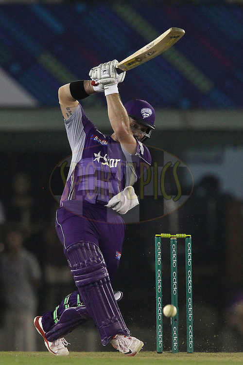 Travis BIRT of the Hobart Hurricanes  during match 2 of the Oppo Champions League Twenty20 between the Kings XI Punjab and the Hobart Hurricanes held at the Punjab Cricket Association Stadium, Mohali, India on the 18th September 2014<br /> <br /> Photo by:  Ron Gaunt / Sportzpics/ CLT20<br /> <br /> <br /> Image use is subject to the terms and conditions as laid out by the BCCI/ CLT20.  The terms and conditions can be downloaded here:<br /> <br /> http://sportzpics.photoshelter.com/gallery/CLT20-Image-Terms-and-Conditions-2014/G0000IfNJn535VPU/C0000QhhKadWcjYs