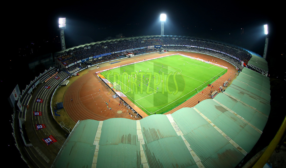 General view of the stadium during the first semi final 2nd leg of the Hero Indian Super League between Bengaluru FC and FC Pune City  held at the Sree Kanteerava Stadium, Bengaluru, India on the 11th March 2018 <br /> <br /> Photo by: Sandeep Shetty  / ISL / SPORTZPICS