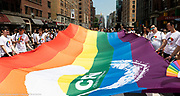 China Rainbow Network at  the Pride March in New York City, New York on June 24, 2018.