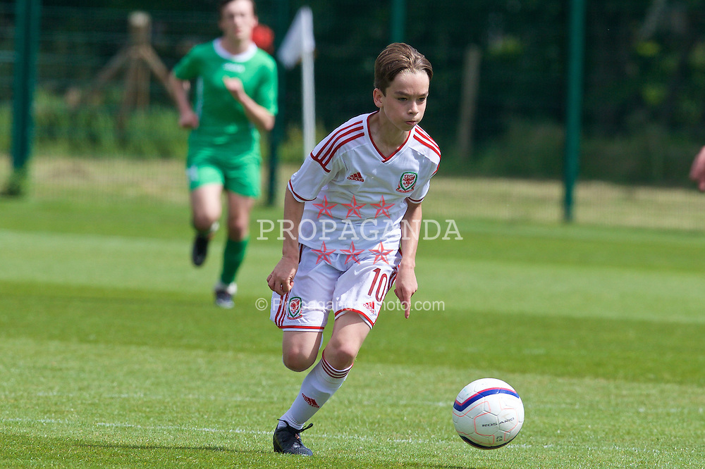 NEWPORT, WALES - Thursday, May 28, 2015: Regional Development Boys' Toby Maguire during the Welsh Football Trust Cymru Cup 2015 at Dragon Park. (Pic by David Rawcliffe/Propaganda)