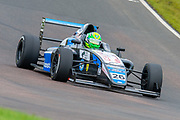 Louis Foster (GBR) of Double R Racing exits Butchers during Round 23 of the FIA Formula 4 British Championship at Knockhill Racing Circuit, Dunfermline, Scotland on 15 September 2019.