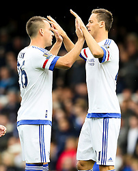Chelsea Captain, John Terry high fives Nemanja Matic before the game  - Mandatory byline: Matt McNulty/JMP - 07966386802 - 12/09/2015 - FOOTBALL - Goodison Park -Everton,England - Everton v Chelsea - Barclays Premier League