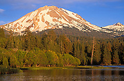 Afternoon light on Mount Lassen and Manzanita Lake (Pacific Ring of Fire), Lassen Volcanic National Park, California