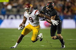 SANTA CLARA, CA - DECEMBER 05:  Wide receiver JuJu Smith-Schuster #9 of the USC Trojans is tackled by cornerback Alijah Holder #13 of the Stanford Cardinal during the third quarter of the Pac-12 Championship game at Levi's Stadium on December 5, 2015 in Santa Clara, California. The Stanford Cardinal defeated the USC Trojans 41-22. (Photo by Jason O. Watson/Getty Images) *** Local Caption *** JuJu Smith-Schuster; Alijah Holder