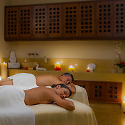 Couple enjoying time at the Spa. Cancun, Mexico.