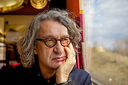 "Film director Wim Wenders (""Buena Vista Social Club"")  in the train from Berlin to Prague heading to the international ""Febio-Festival"". For the opening of the alternative festival 63 years old Wenders was honoured with a retrospective of his films."