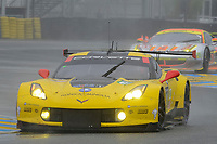 Oliver Gavin (GBR) / Tommy Milner (USA) / Jordan Taylor (USA)  #64 Corvette Racing - GM  Chevrolet Corvette C7.R,  during Le Mans 24 Hr June 2016 at Circuit de la Sarthe, Le Mans, Pays de la Loire, France. June 18 2016. World Copyright Peter Taylor/PSP. Copy of publication required for printed pictures.  Every used picture is fee-liable. http://archive.petertaylor-photographic.co.uk