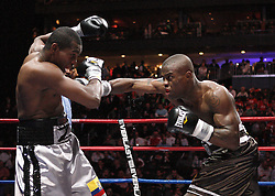 Feb 6, 2010; Newark, NJ; USA; Peter Quillin decisions Fernando Zuniga over 10 rounds at the Prudential Center.