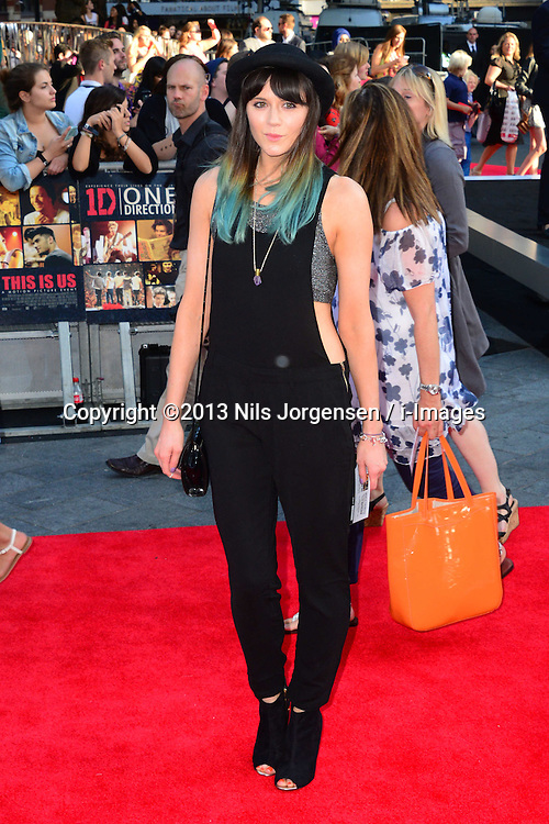 Lilah Parsons arriving for the world premiere of their film One Direction: This Is Us,<br /> London, United Kingdom.<br /> Tuesday, 20th August 2013.  Picture by Nils Jorgensen / i-Images