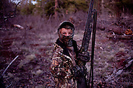C.J. Siegfried, 10, went hunting for his first time at the Marvin Robbins Memorial Juniors Turkey Hunting Camp held at Camp Raymond Boy Scout Camp.  The camp was sponsored by the Mingus Mountain Longbeards.